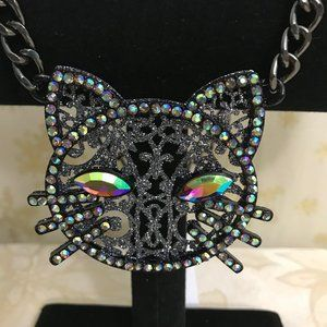 Betsey Jonson DarkMagic cat Pendant ..